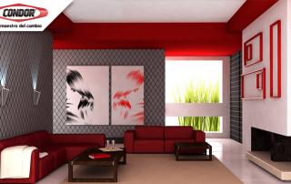 El color rojo es el indicado para ambientes | Pinturas Condor